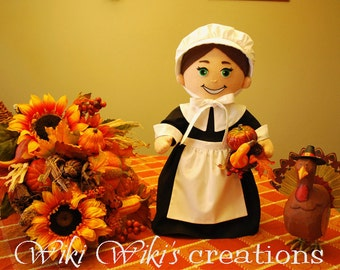 Plush Pilgrim Girl Doll
