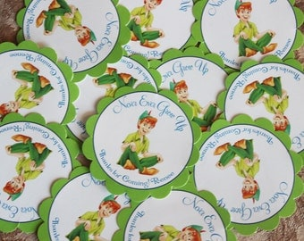 Peter Pan Personalized Birthday Stickers