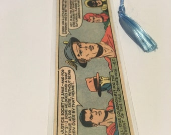 Upcycled DC Vintage Comic Book Bookmark