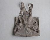vintage XS beige overalls