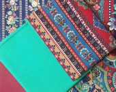 Fat Quarter Bundle,  Floral Fabric, Assorted Floral Fabric, Red Floral Fabric, Green Floral Fabric, 6 FQ's