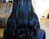 SPRING SALE - Cleopatra - Brunette Wig - Long Black Straight - Middle Part - Emo - Rockabilly - Cosplay - Durable - Comfort