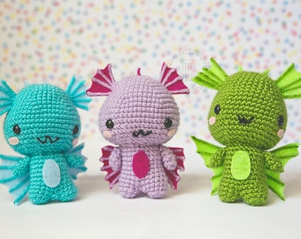 Baby Dragon amigurumi - variety of colors or customize