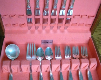 SALE! Oneida Heiress Sterling Silver 26 PC Silverware Set With Kenized Lined Case