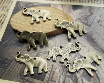 20pcs 16*26mm antique bronze  elephant  animal charms pendant C520