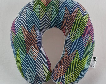 Neon Travel Neck Pillow for Children and Adults