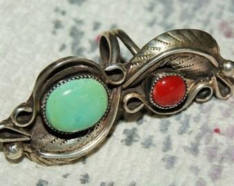 VINTAGE PAWN NAVAJO Ring Persian Turquoise c1960