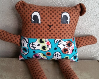Square Bear Stuffed Bear Doll a Spindle and Sparrow Original Design