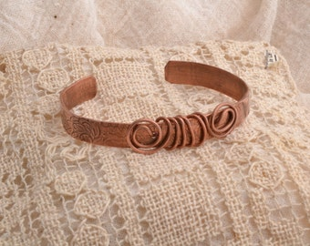 Copper Wrapped Narrow Bracelet #2. Free Shiping In US and Canada