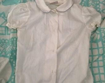 Vintage White blouse 2t
