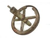 Vintage Wheel Wood Rustic