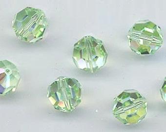 """Twelve""""out of program""""  Swarovski crystals - Art. 5000 - 8 mm - chrysolite AB"""