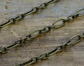 Iron Necklace or Bracelet Chain, Antique Bronze Chain, 3mm Thick Chain, Jewelry Chain Bracelet Chain Jewelry Supplies (EA026)