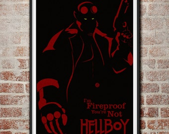 Hellboy: I'm Fireproof Minimalist Movie Poster