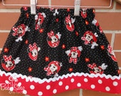 Minnie Mouse Skirt, Skirt, Minnie, Made to order 12 month, 18 month, 2t, 3t, 4t, 5t, 6, 8