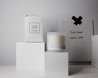 VIOLET NIRVANA // lavender & Vanilla scented soy candle