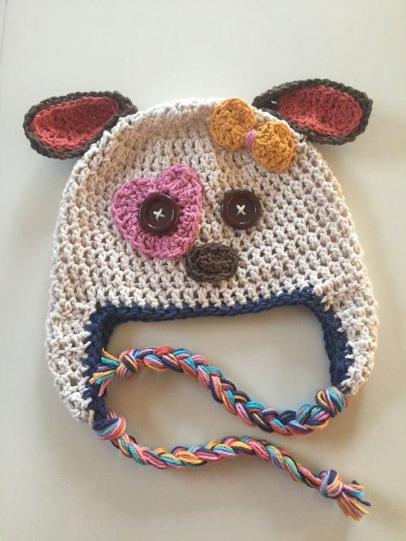 Baby Hat Puppy Hat Crochet Dog Hat Girls Hat Hat For Girls