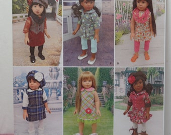 Simplicity 1089--Modern doll clothes for 18 Inch Dolls-Doll Clothes Pattern