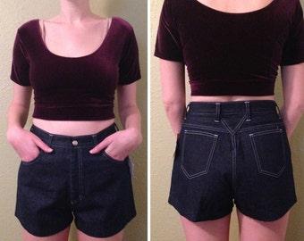 VTG dark denim high waisted short shorts