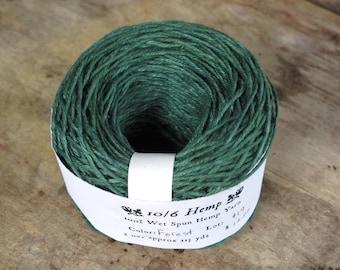 Forest Green 10/6 Hemp Yarn