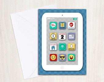 iParty Invitation - iPad iPhone Emoji and Tablet Birthday Party Supplies