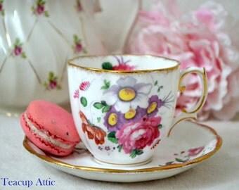Royal Albert Lady Angela Teacup And Saucer, English Bone China Tea Cup Set, Wedding Gift, Tea Party,  ca. 1940