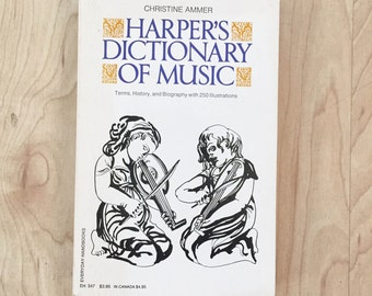 Harper's Dictionary of Music (1972, Paperback)