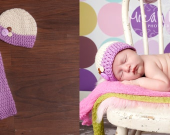 Newborn Beanie and Pant Set