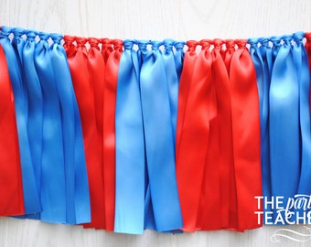 Red Blue Bunting - FREE Shipping - Graduation Party - Graduation Bunting - Team Bunting - Football Bunting - Superman Bunting