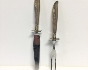 Carving set, stainless carving set