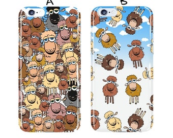 Sheep iphone 6 case Animal iphone 7 plus case brown samsung galaxy S4 S5 S6 S7 case plastic samsung galaxy s7 edge beige Galaxy S6 case