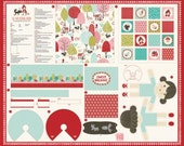 Lil Red - Sweet Dreams Project Panel in Multi - Stacy Iset Hsu for Moda - 20500 11 - 1 panel