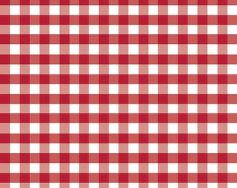 Riley Blake Designs - Gingham Red in Double Gauze - G588-Red - 1/2 Yard