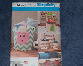 Simplicity 1214...Organizers Patterns...Toy Totes...Bathroom Organizers...Ktchen Organizers...