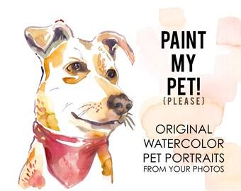 Paint My Pet! Watercolor Pet Portrait