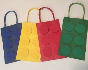 Building Blocks Goody Bags, Party Bags, Building Blocks Gift Bags