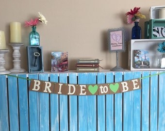 Bride to Be Banner, Wedding Shower Banner, Bachelorette Banner, Mini Banner