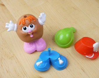 Vintage Potato Head Kids Playskool Toy and Outfits 1986