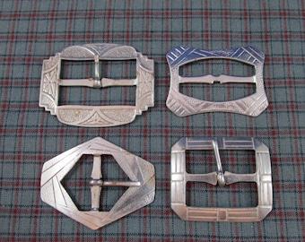 Lot of 4 Steel Buckles - Vintage