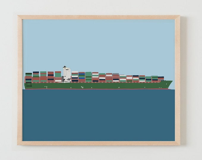 Fine Art Print. Container Ship. February 23, 2015.