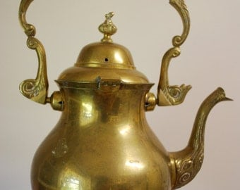 Vintage TEAPOT WATERING CAN - Brass