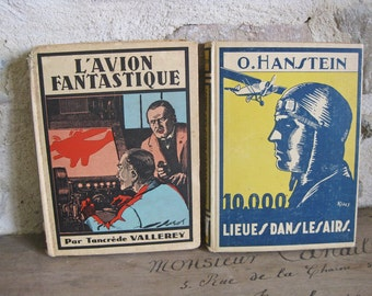 Aviation books, 1930s French adventure fiction about flying