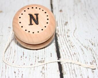 Monogrammed Wood Yo-Yo