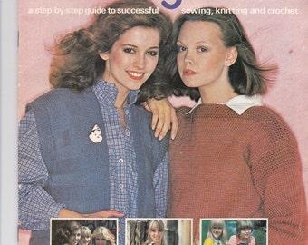 ON SALE Stitch by Stitch Craft Magazine Vintage 1970s Part  2
