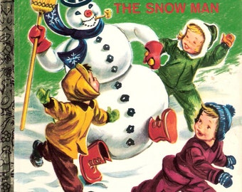 Frosty the Snowman Vintage Little Golden Book Illustrated by Corinne Malvern