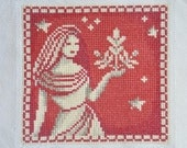 Finished / Completed Cross Stitch - Lanarte - Red Signs of the Zodiac: Virgo (34977) crossstitch counted cross stitch