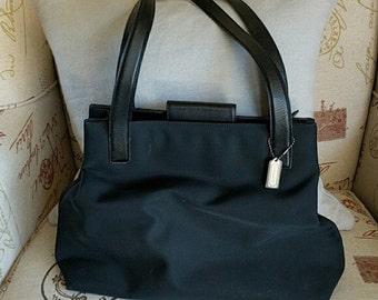 Black Nylon Coach Bag