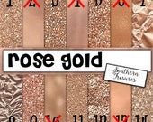 Rose Gold, Foil, Glitter, (FAUX GLITTER) PRINTED vinyl or heat transfer vinyl (iron on) You choose 6x6, 8.5x11, 12x12, 12x24 and 12x36