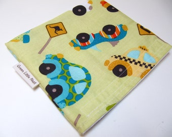 Reusable Snack Bag, Cars and Trucks Snack Bag, Back To School Snack Bag, Eco Lunch Wrap, Reusable Lunch Bag, Car Sandwich Bag
