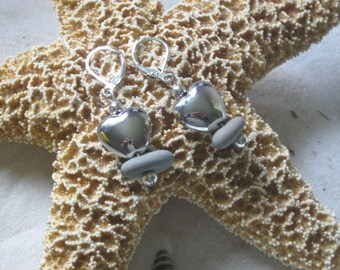 Lake Erie Beach Pebble Earrings